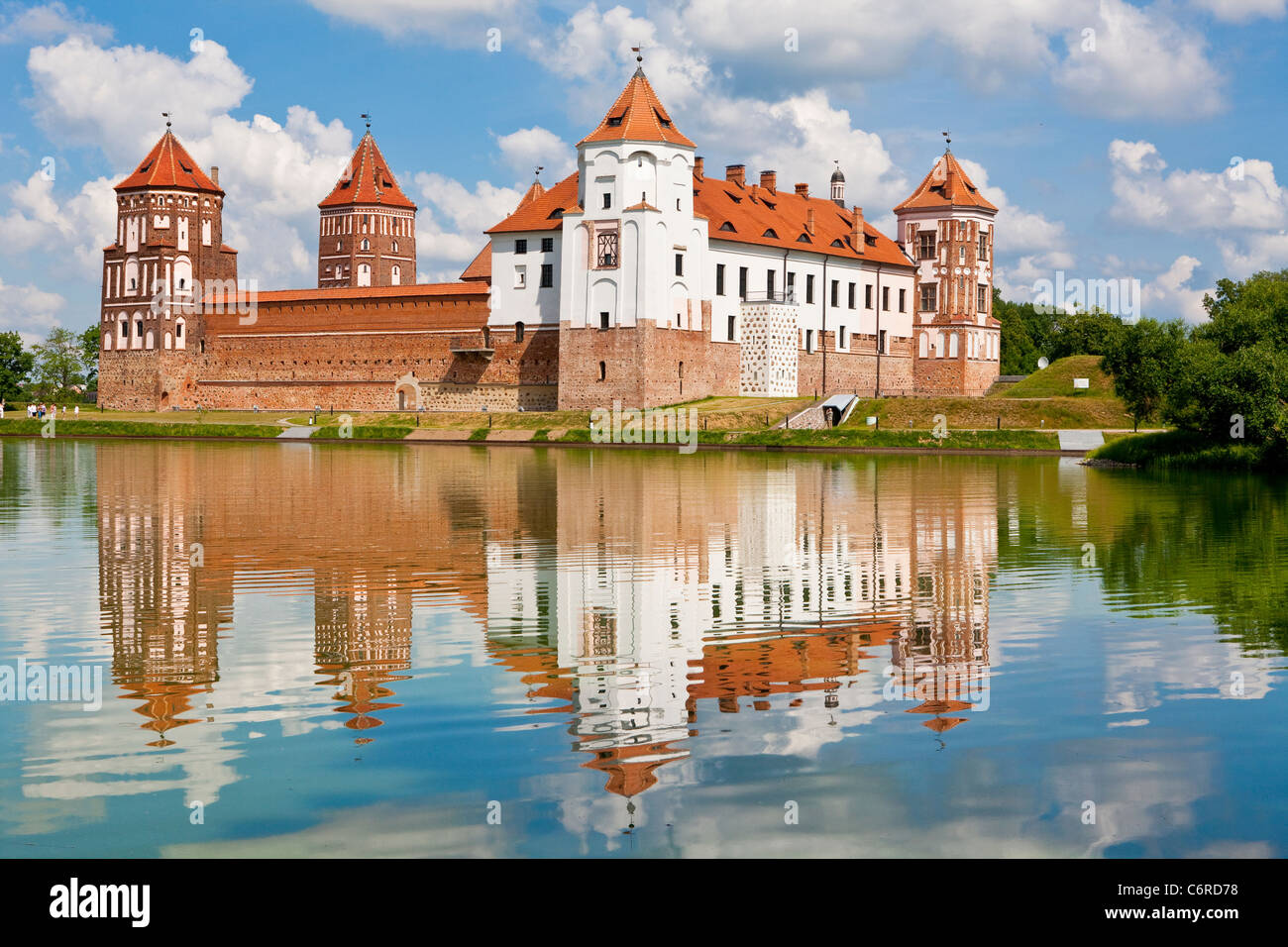 Mir Castle Complex in Belarus Stock Photo