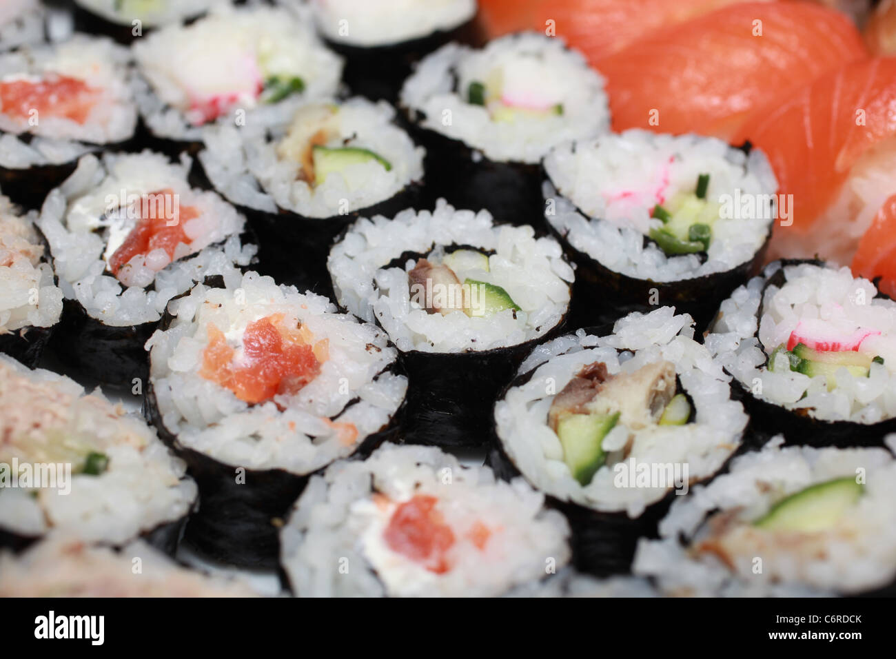A selection of Sushi - Stock Image