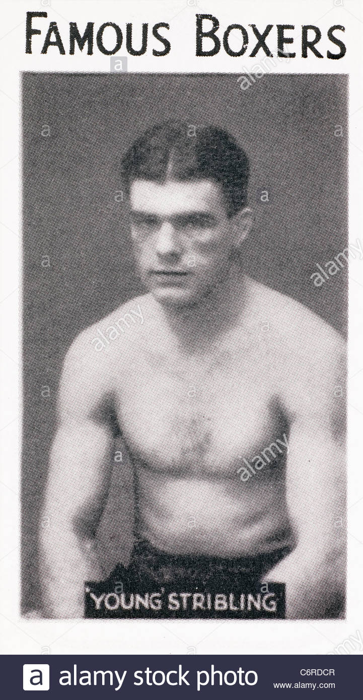 Famous boxer 'Young' Stribling  heavyweight boxer. EDITORIAL ONLY - Stock Image
