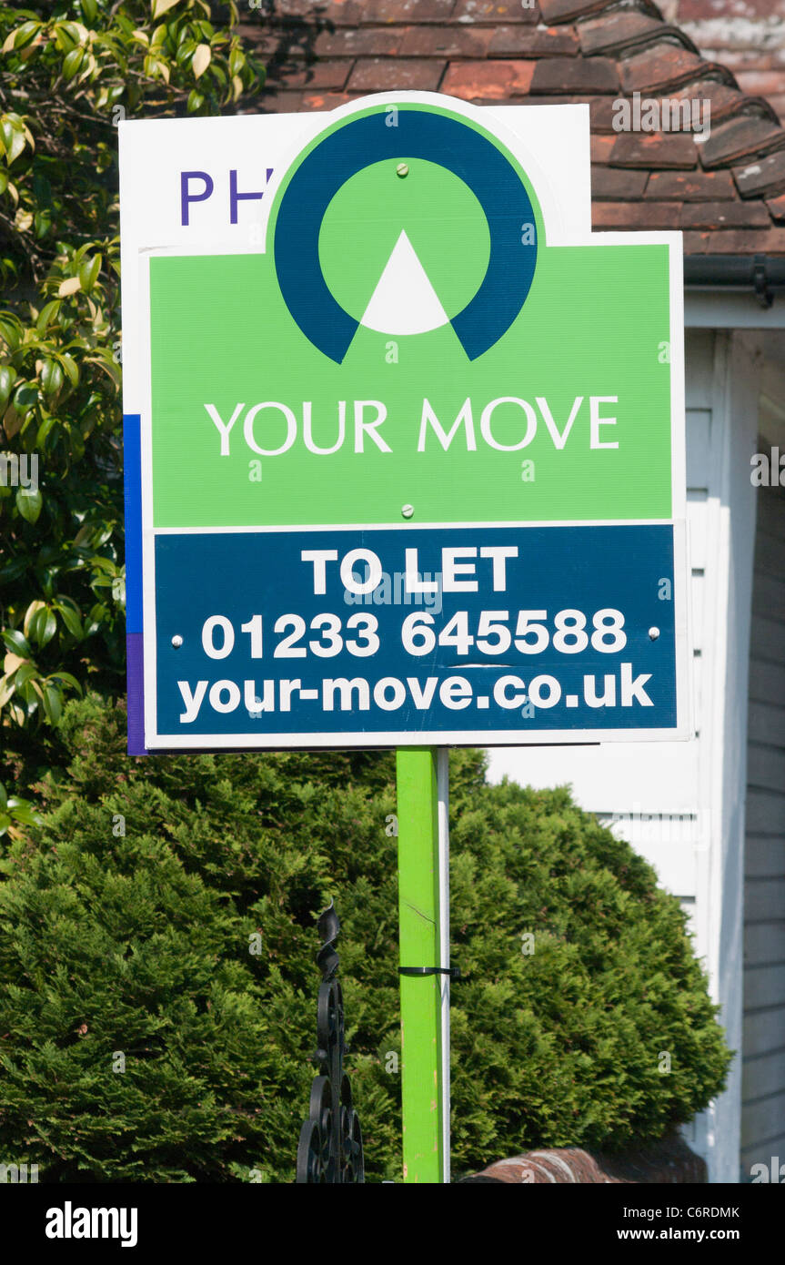Your Move Property To Let Sign UK - Stock Image
