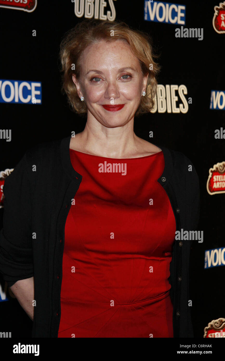 J. Smith-Cameron attending The 2010 Village Voice OBIE Awards, honoring the best of Off-Broadway, held at Webster Stock Photo