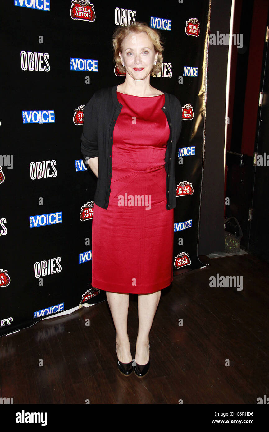 J. Smith-Cameron attending The 2010 Village Voice OBIE Awards, honoring the best of Off-Broadway, held at Webster - Stock Image
