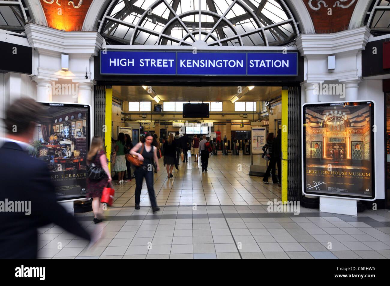 High Street Kensington Station, London, Britain, UK - Stock Image