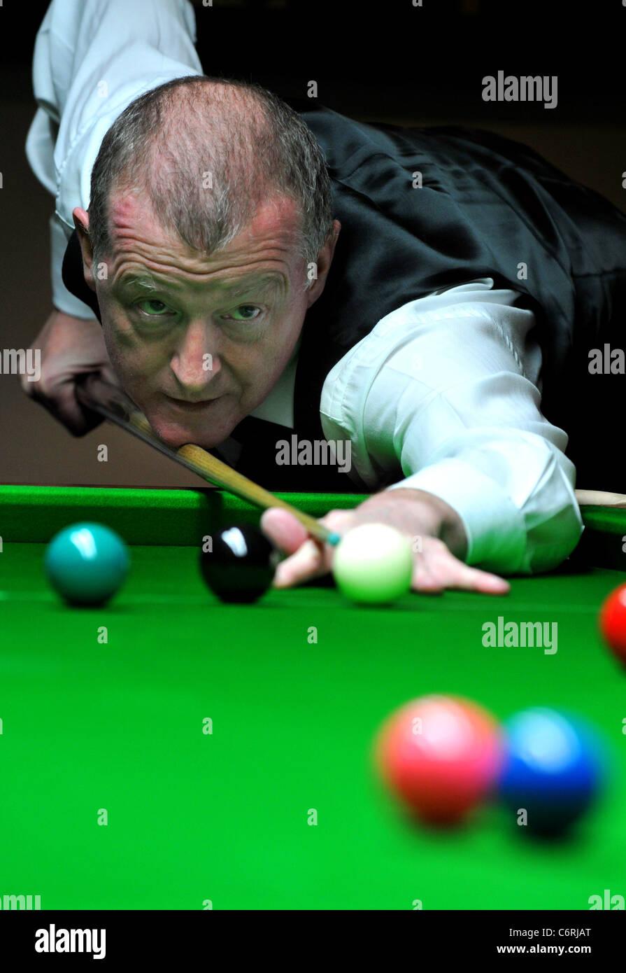 Steve Davis, former World Snooker champion. UK - Stock Image