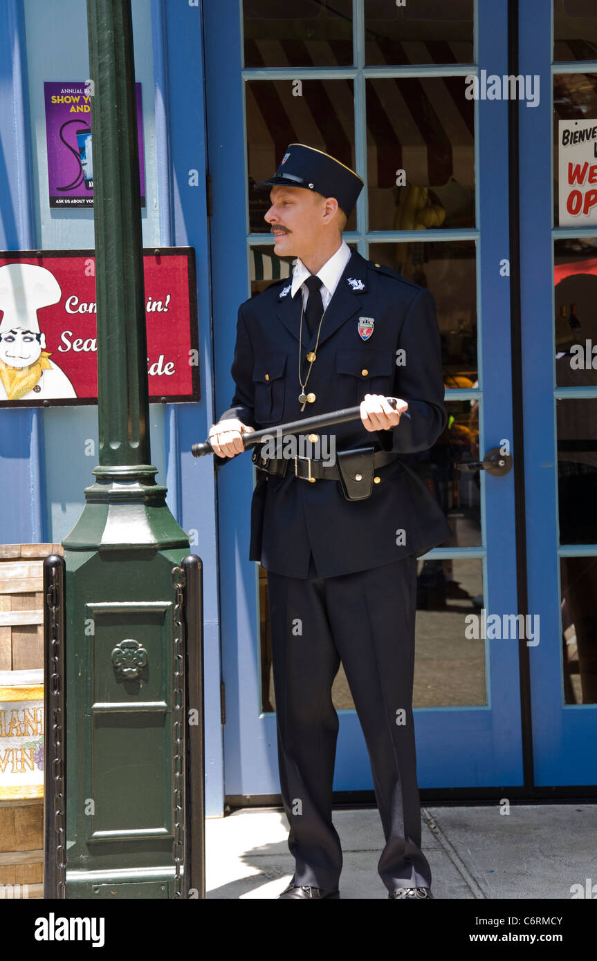 French Policeman, Universal Studios in Los Angeles, California, USA - Stock Image