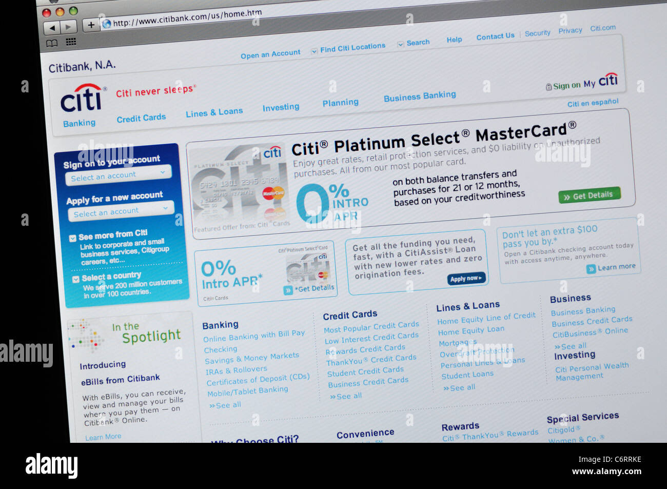 Citi Website Stock Photos Citi Website Stock Images Alamy