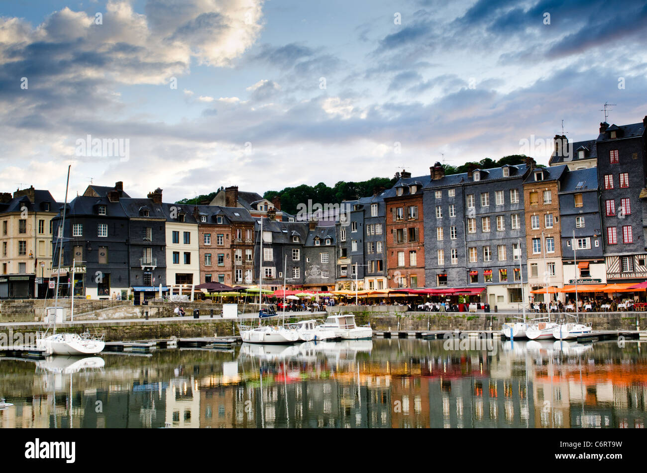 Dusk at Honfleur - Stock Image