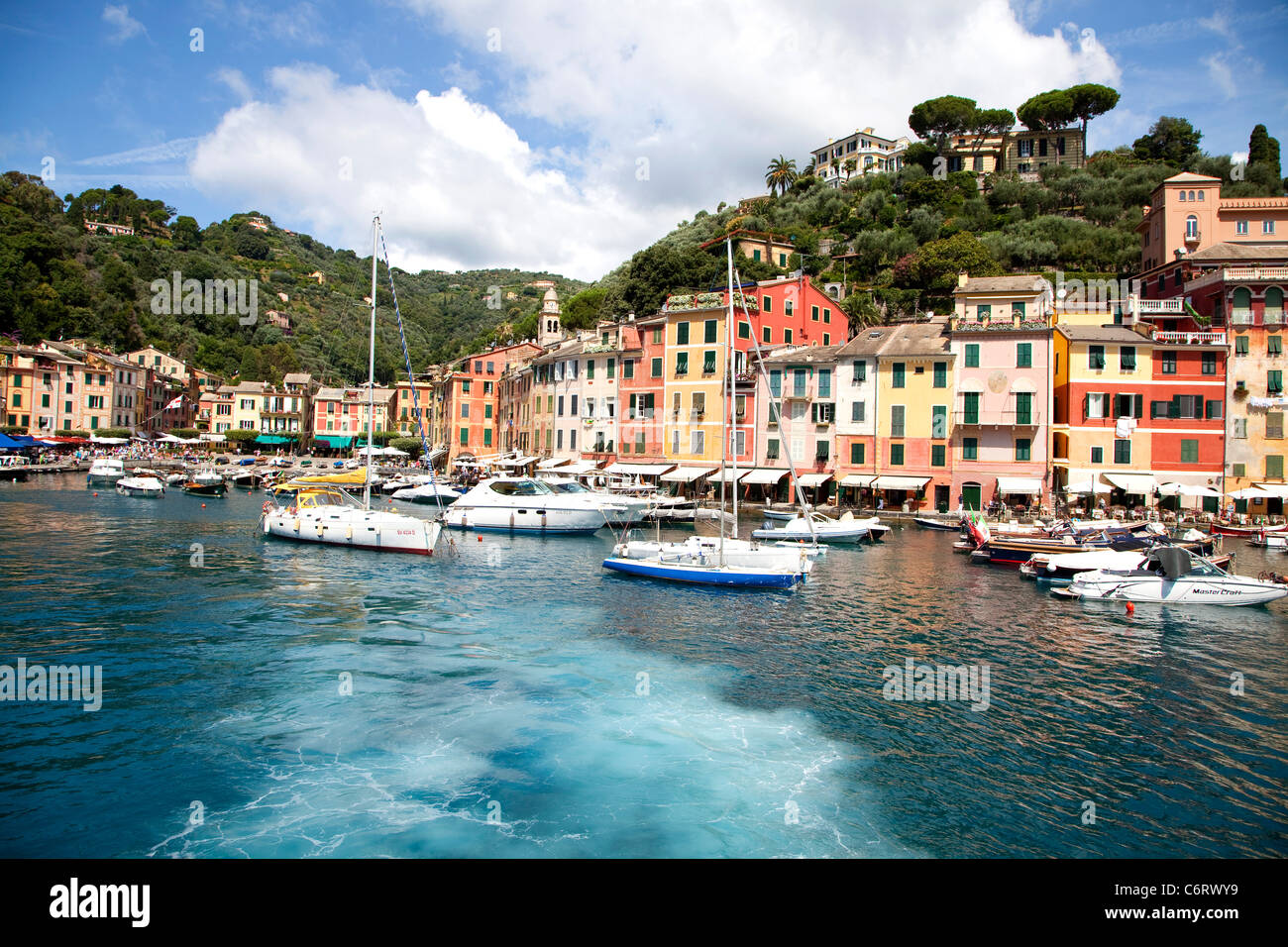 The famous town of Portofino, Liguria, Italy, its port with