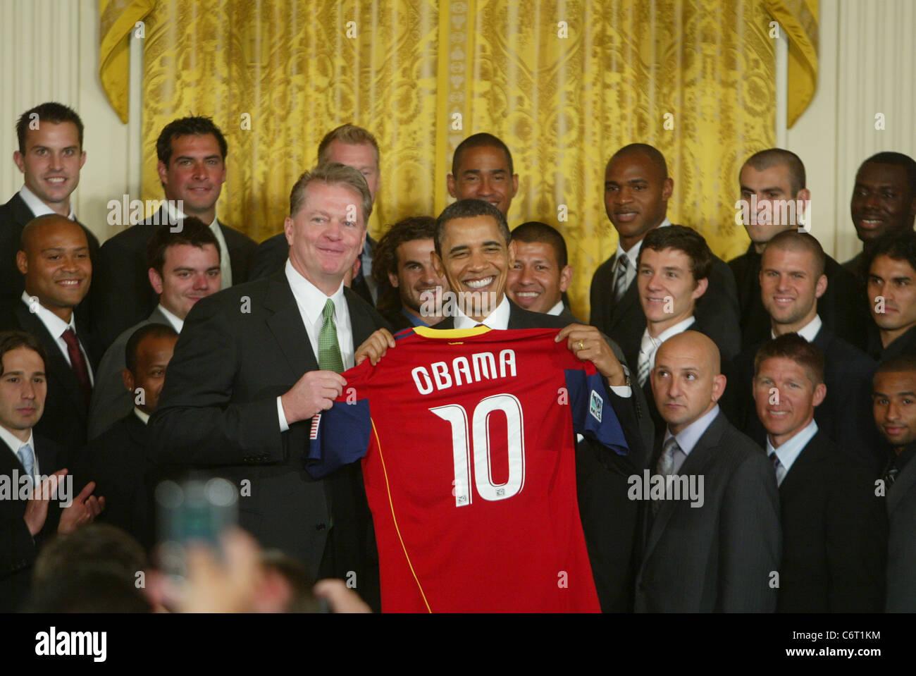 President Barack Obama Welcomes The Major League Soccer Champion