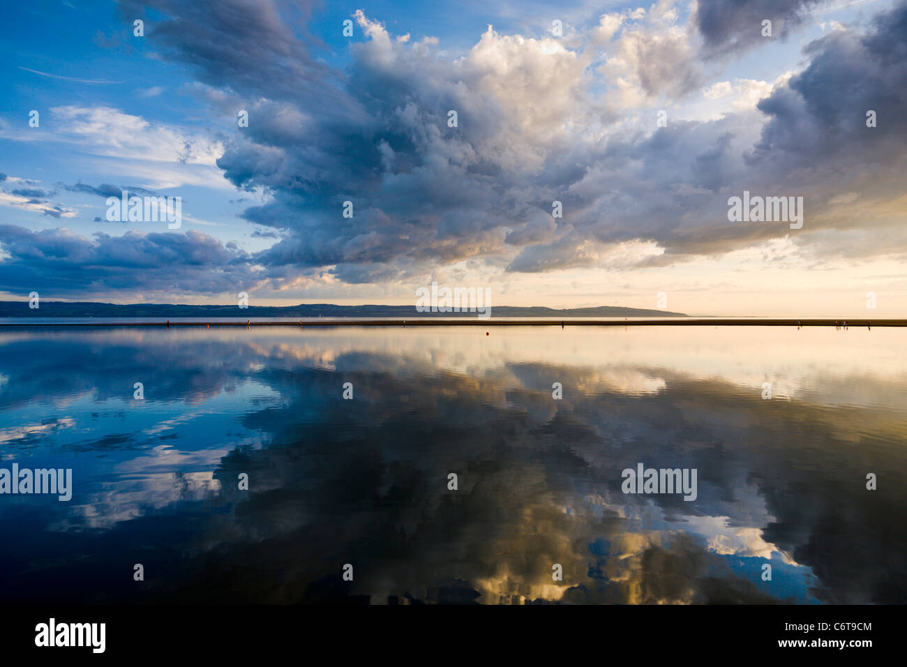 Evening light at West Kirby, Wirral, England - Stock Image