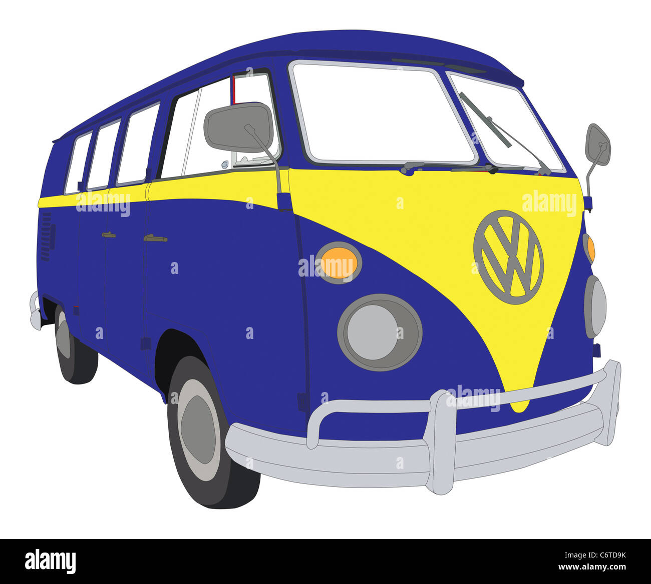 Colourful VW beetle van camper Stock Photo