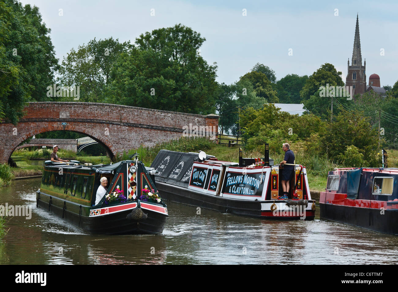 The Oxford Canal at Braunston, Northamptonshire - Stock Image