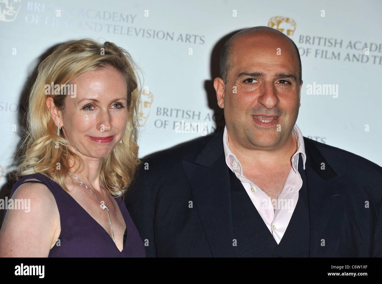Omid Djalili and wife British Academy Television Craft Awards held at the London Hilton. London, England - 23.05.10 - Stock Image