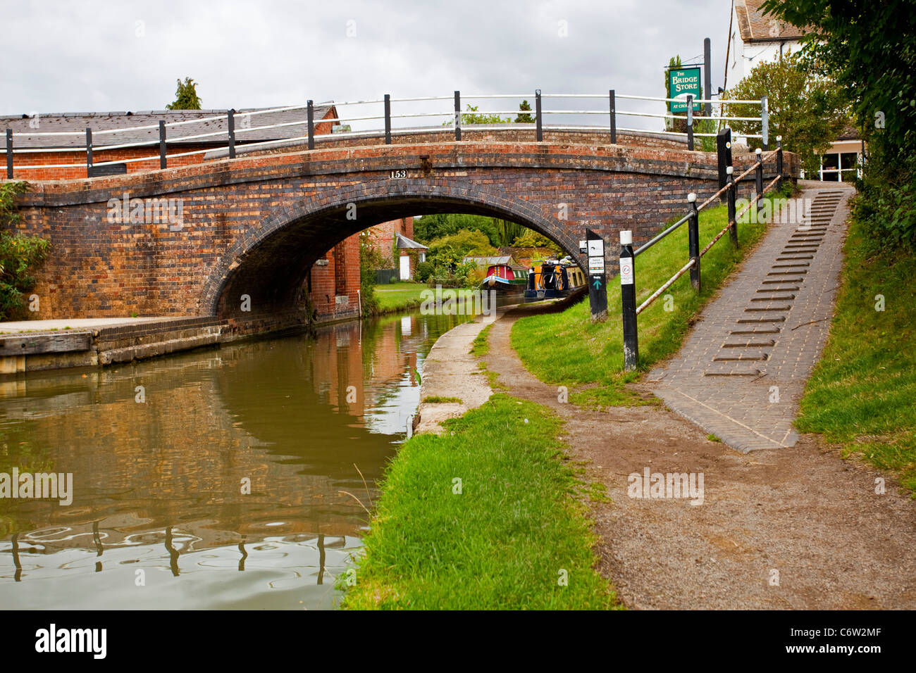 A section of the Oxford Canal at Cropredy Oxfordshire UK - Stock Image
