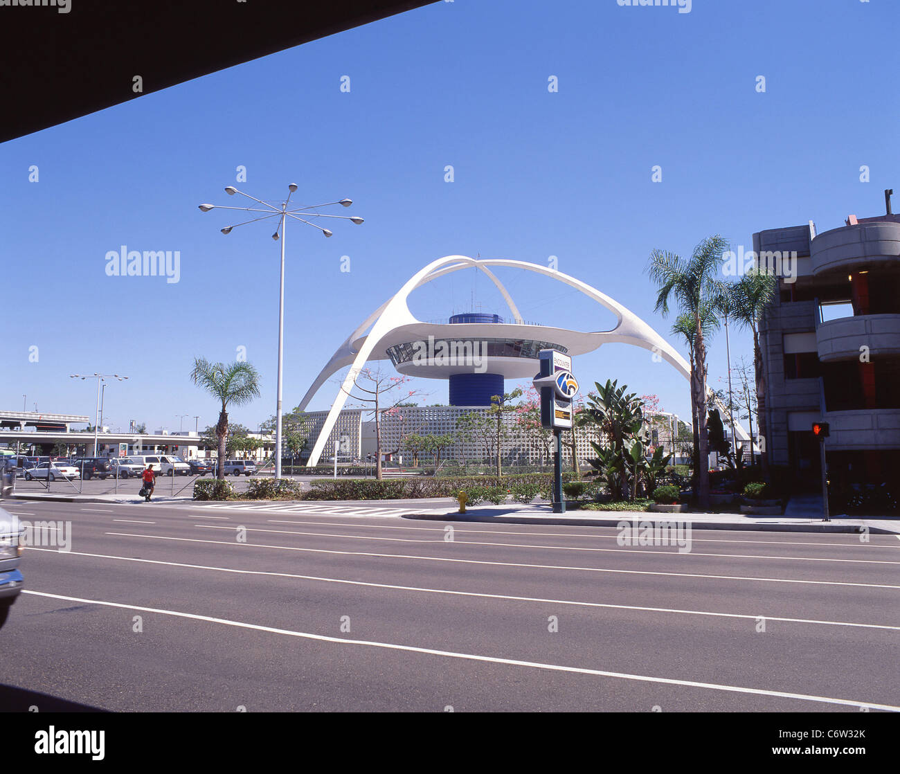The Theme Building, Los Angeles International Airport LAX, Los Angeles, California, United States of America - Stock Image