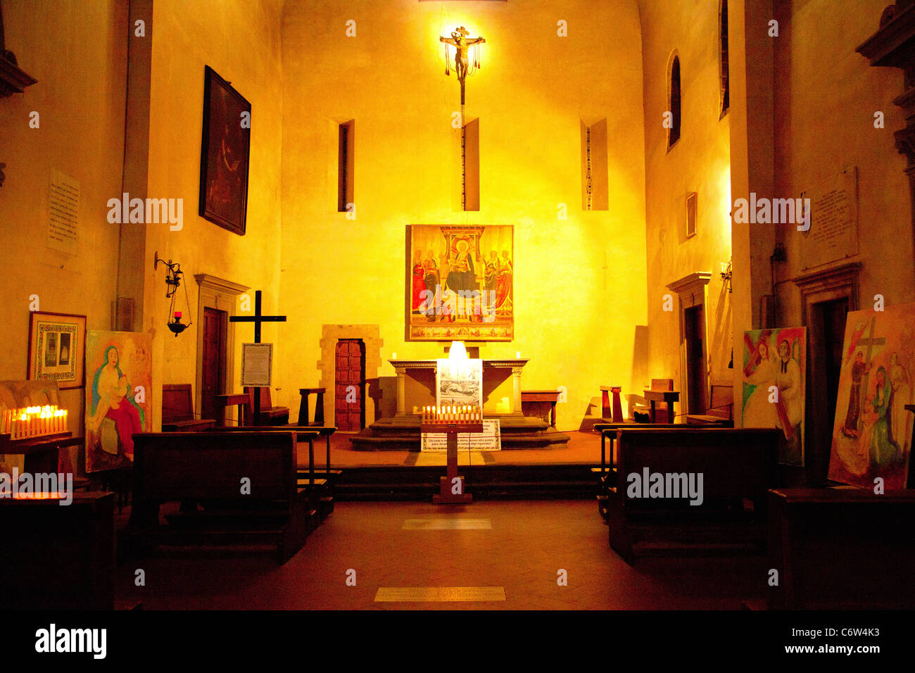 The Chiesa di Dante (Dante's Church) also known as Church of Saint Margaret in Florence Italy. - Stock Image