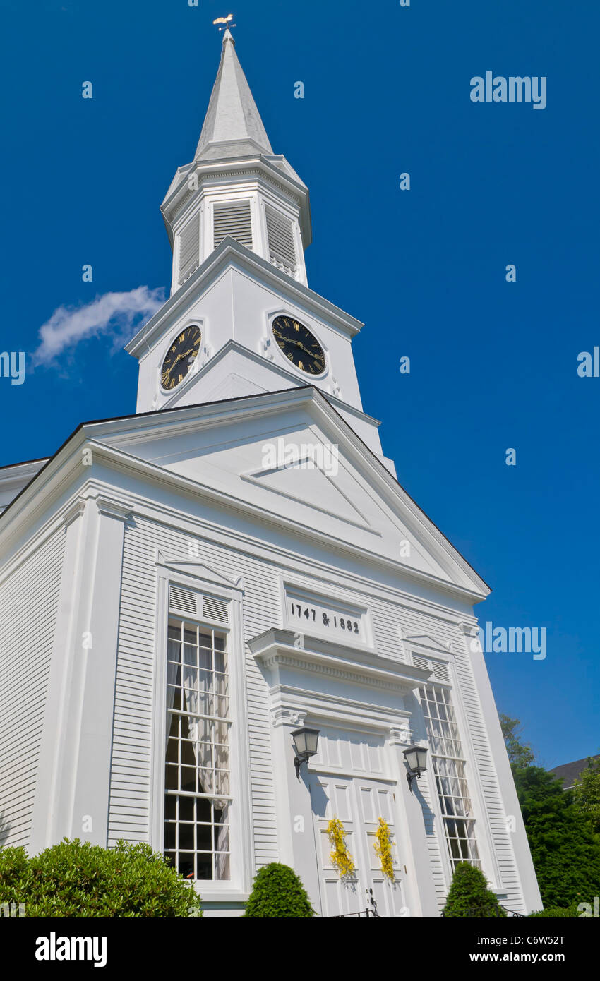 First Parish Church in The Yorks, York, Maine New England USA - Stock Image