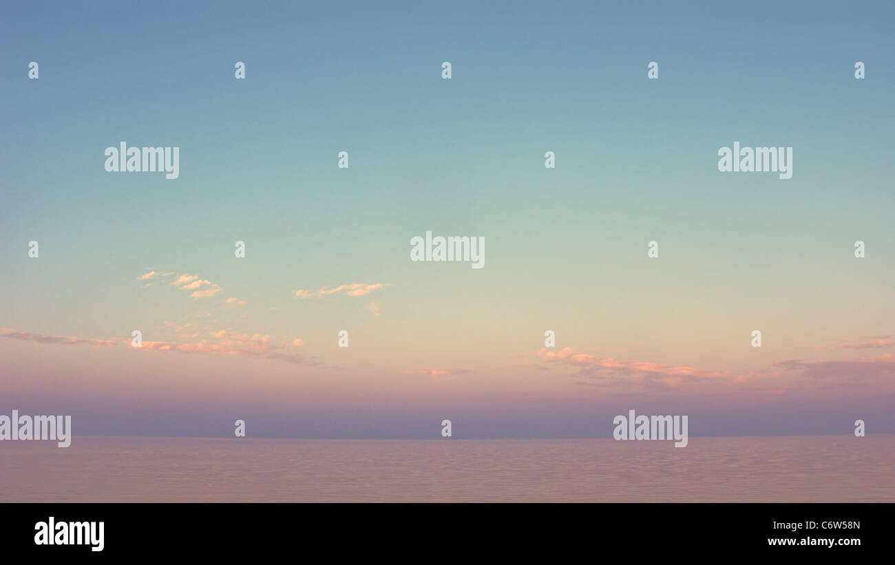 Simple sunset Stock Photo