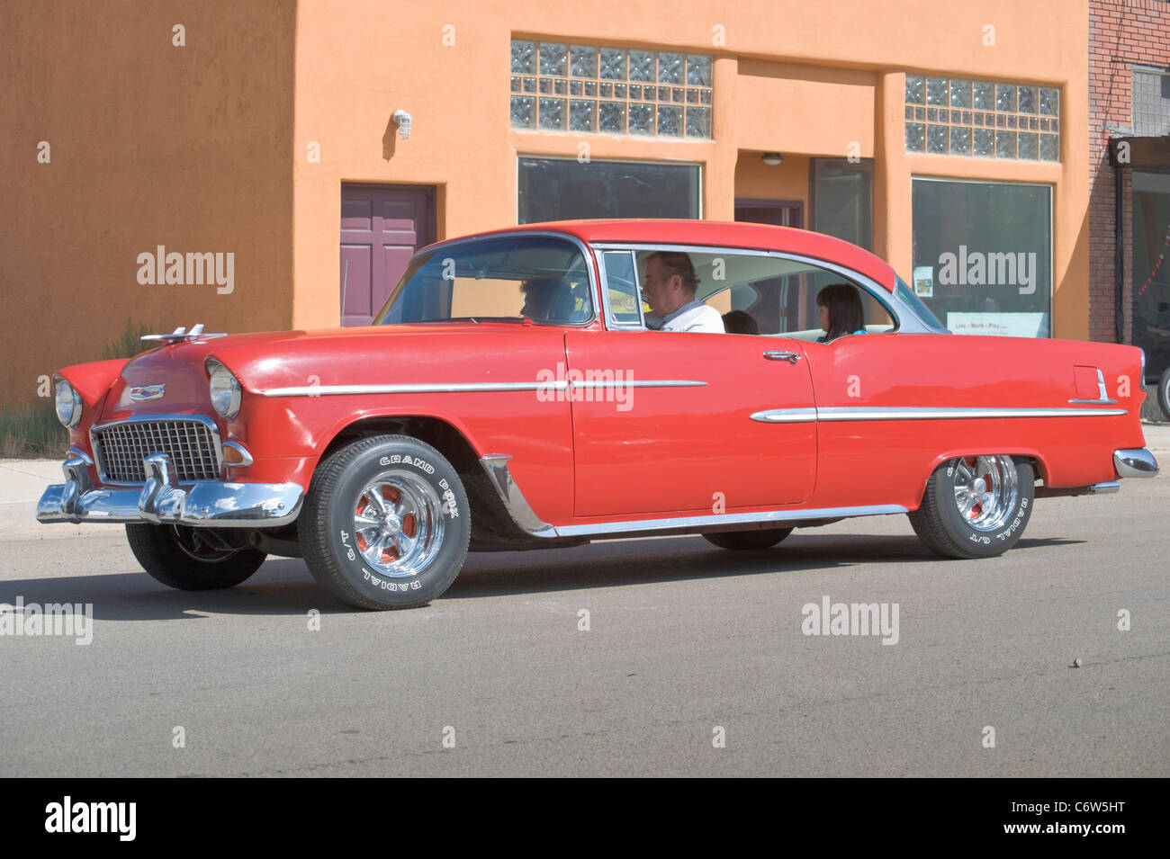 A classic car from the 1950\'s motors down 12th Street in the Labor ...