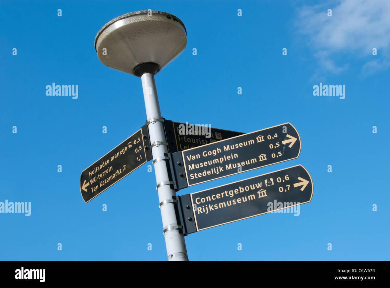 Amsterdam Signpost - Stock Image