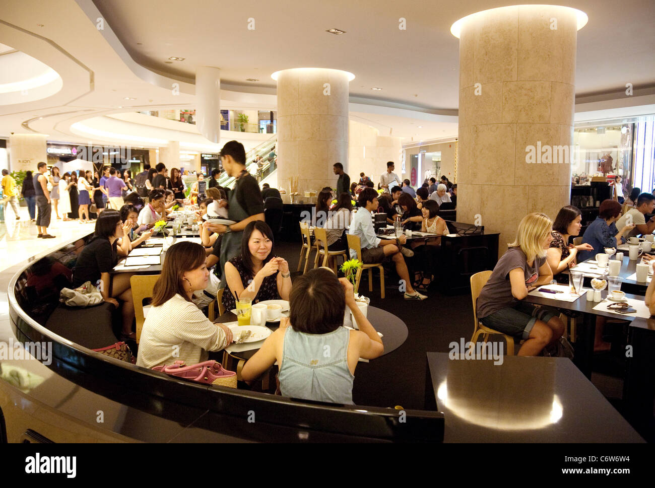 busy restaurant scene. Scene In A Restaurant The Busy Ion Shopping Mall, Orchard Road, Singapore Asia U