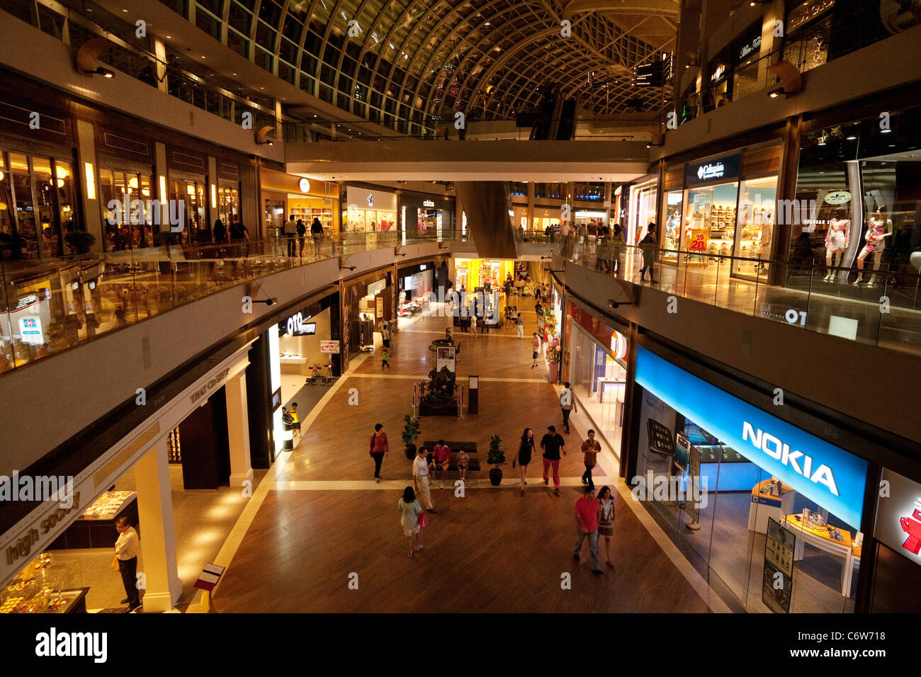 The Marina Bay Sands Hotel shopping mall, Singapore asia - Stock Image