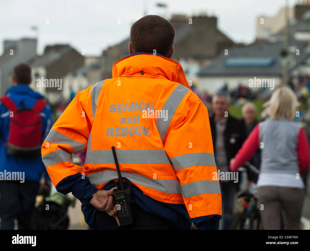 Search And Rescue Team Member In High Visibility Jacket