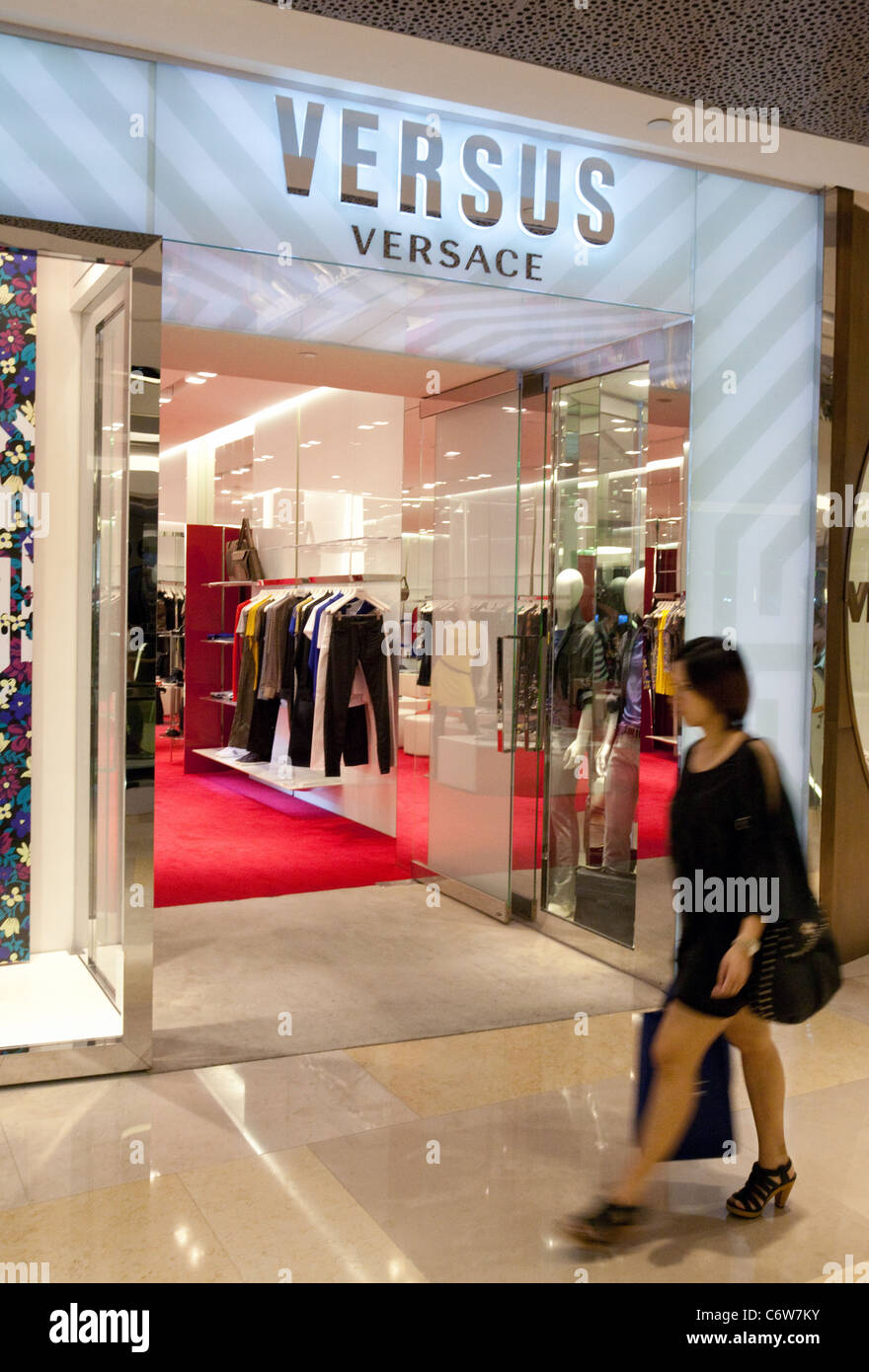 A Versus Versace store in the Ion Shopping Mall, Singapore Asia - Stock Image