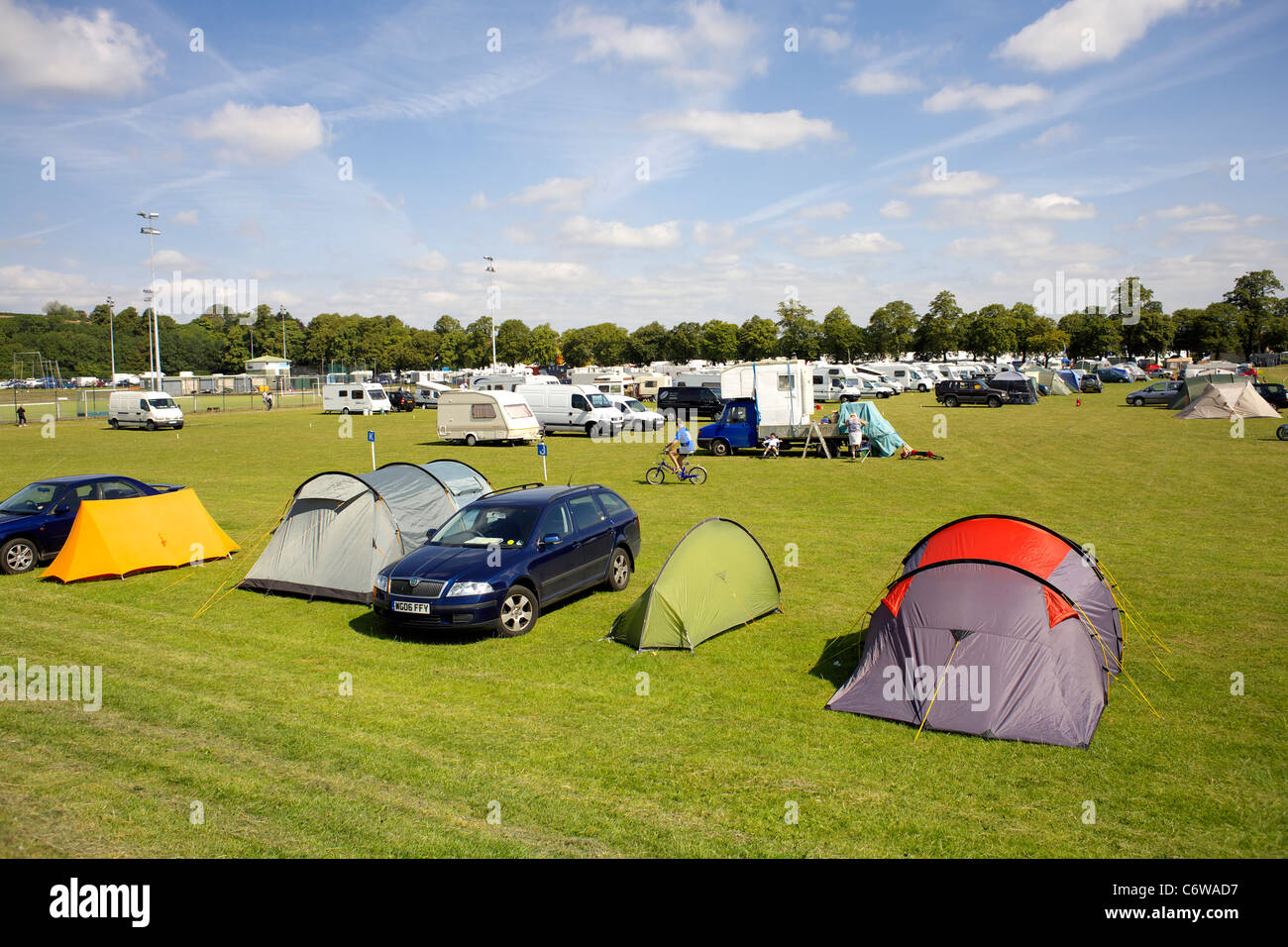 The Camp Site at the 2011 Inland Waterways Festival at Burton on Trent, Staffordshire, England, UK, GB, Great, Britain, - Stock Image