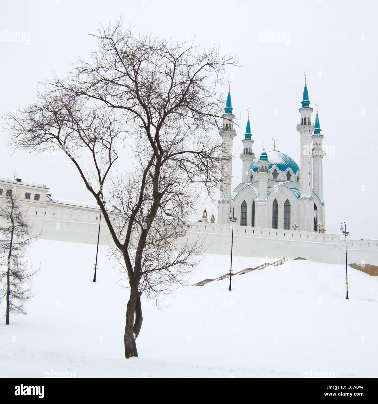 Mosque of Kul-Sharif in winter - Stock Image