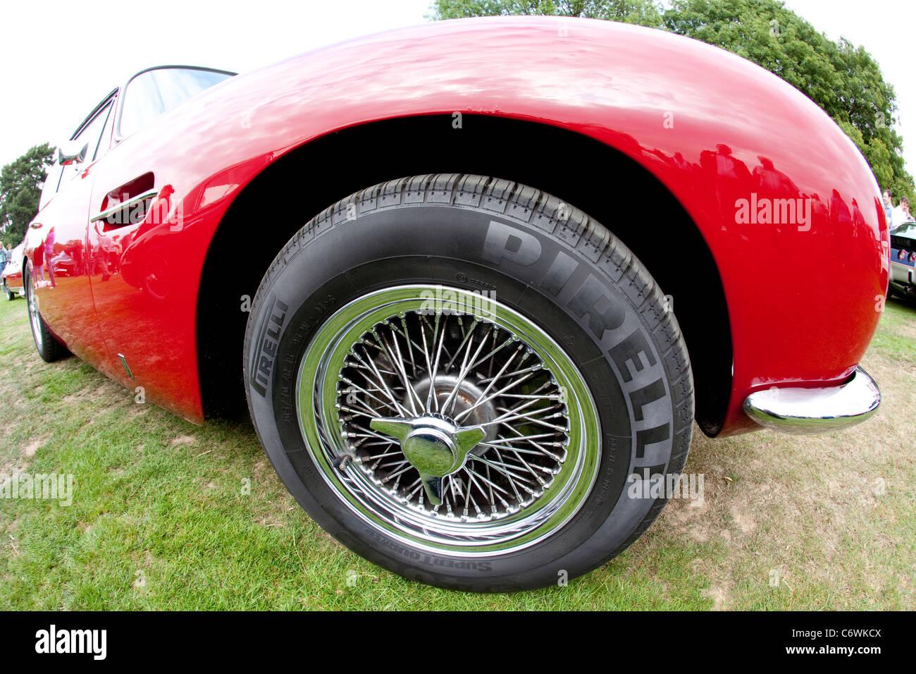 Classics On The Common Harpenden 2011 Red Aston Martin Db6 Pirelli Stock Photo Alamy