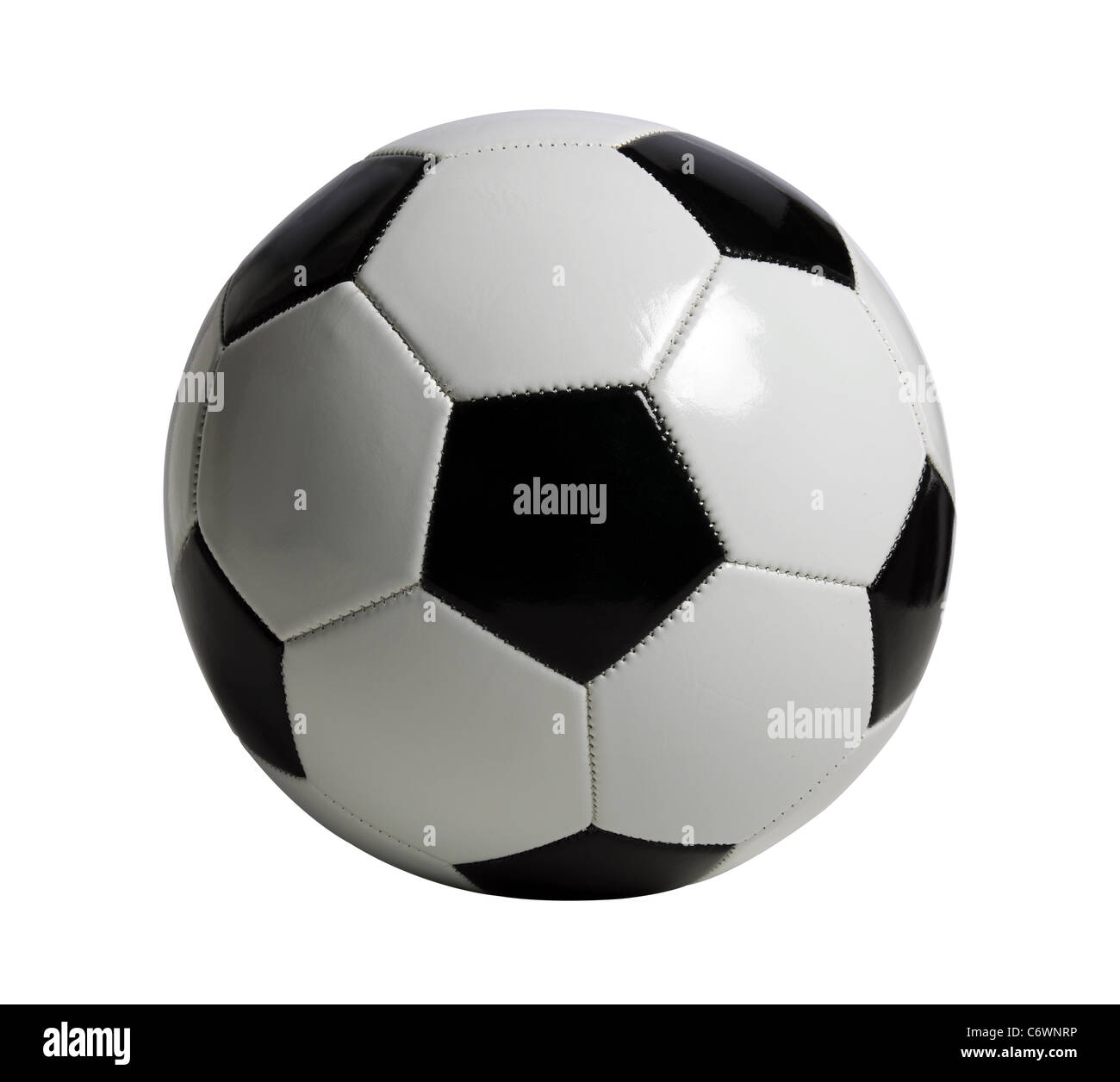 Soccer ball isolated over white background - With clipping path - Stock Image