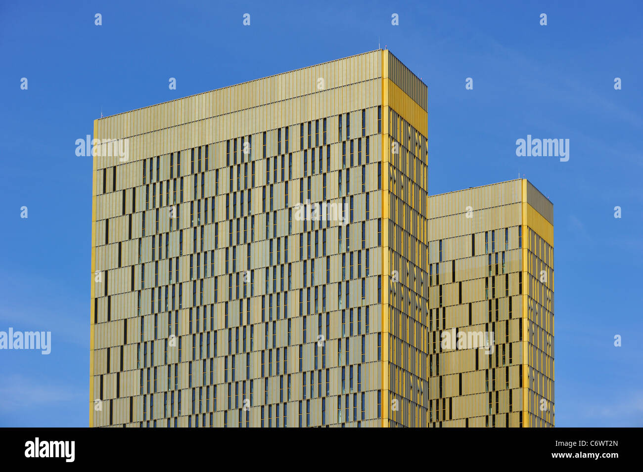 Office buildings of the Court of Justice of the European Union at the Kirchberg plateau, Luxembourg - Stock Image
