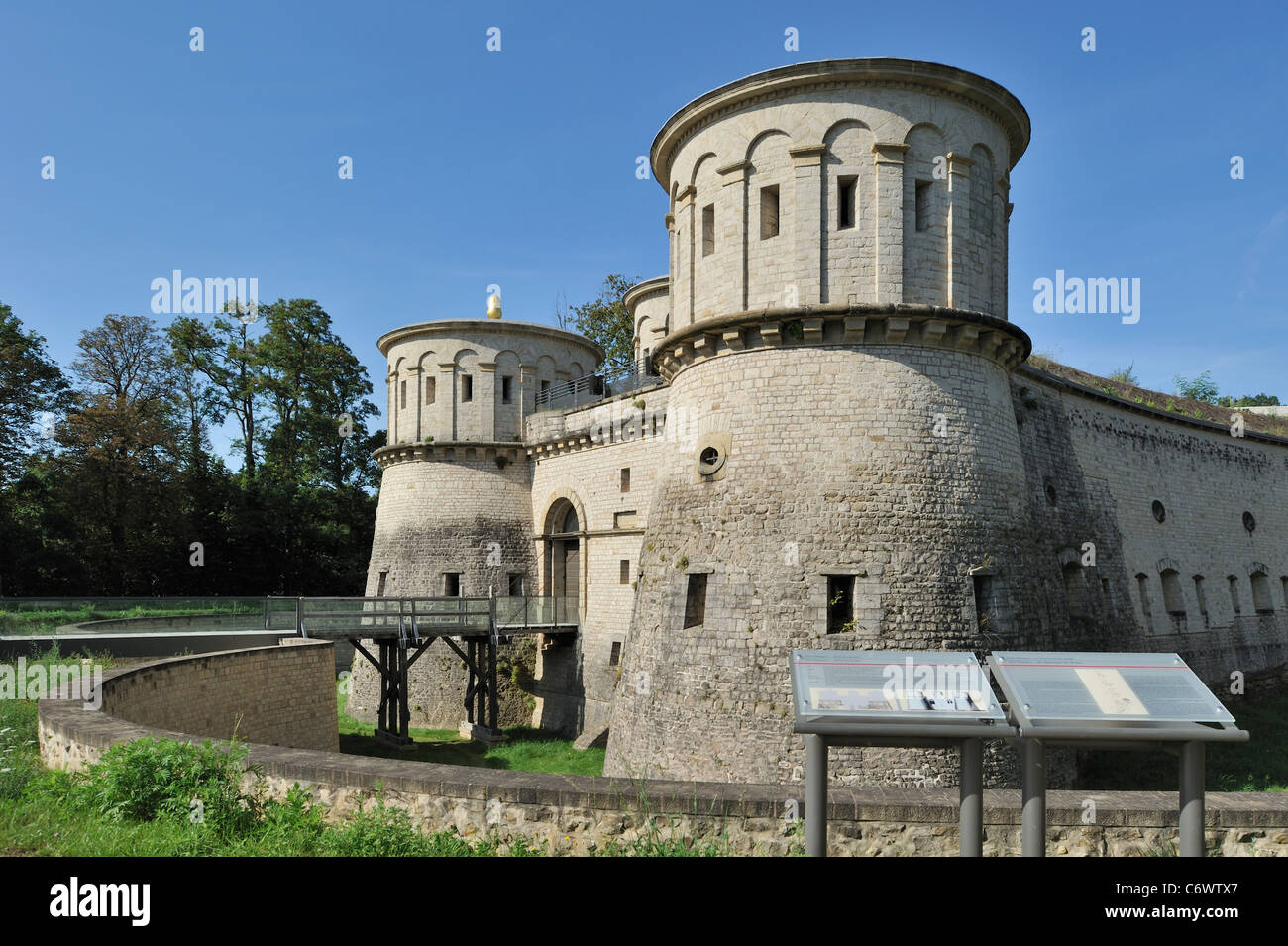 Ancient fortress Vauban / Fort Thüngen at Kirchberg, Luxembourg - Stock Image