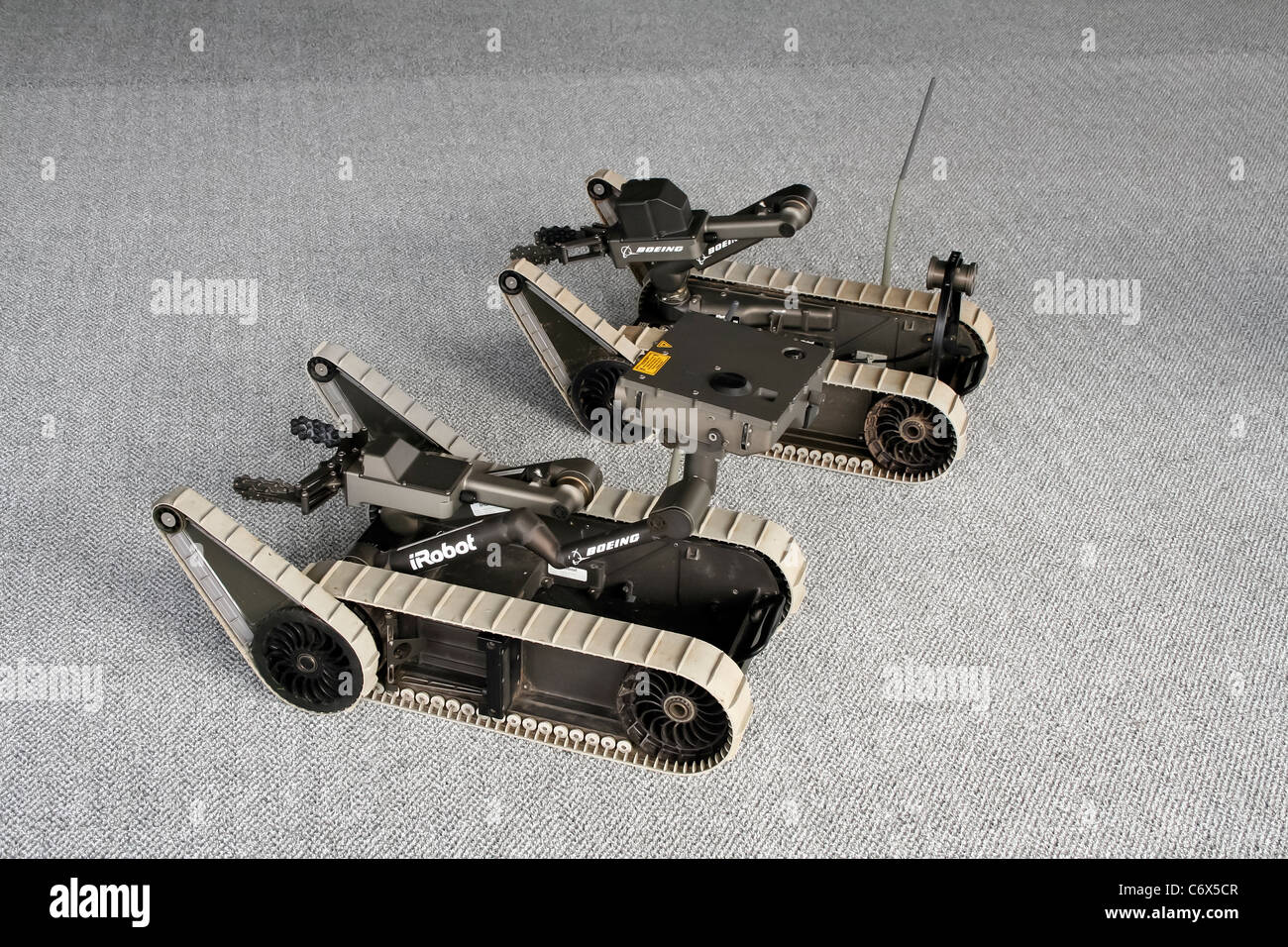 iRobot Boeing SUGV Small Unmanned Ground Vehicle at the Farnborough International Airshow - Stock Image
