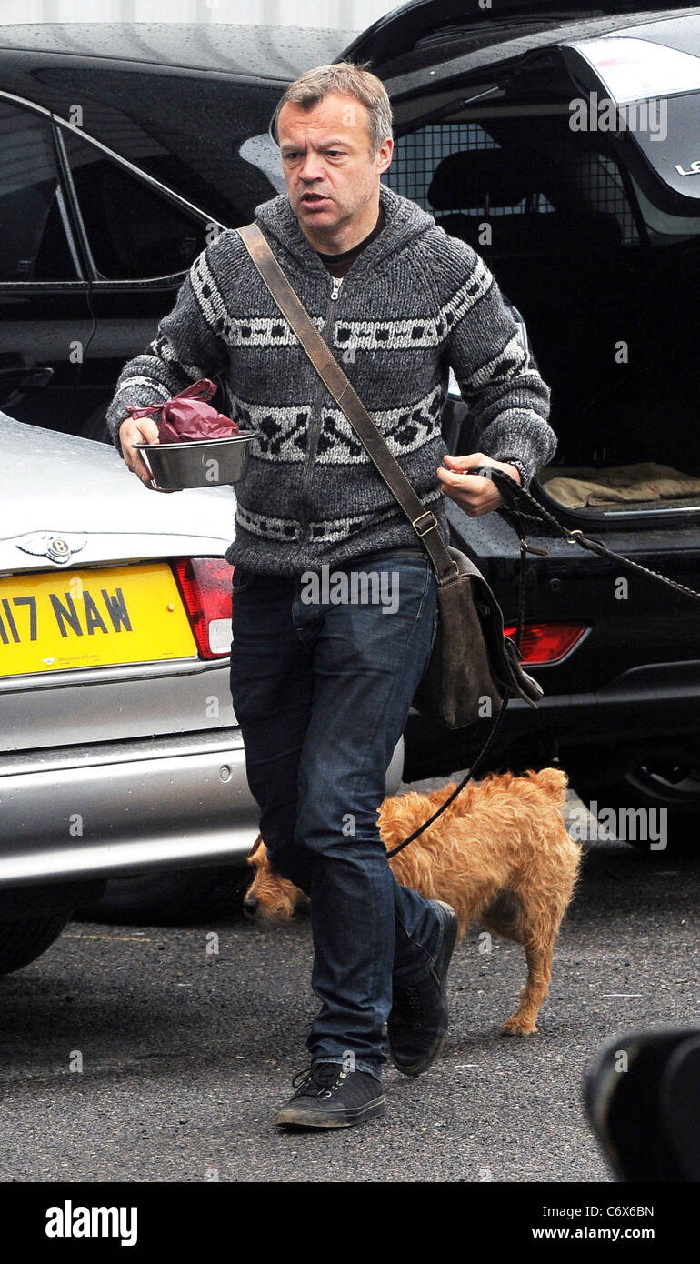 Graham Norton arrives at the Fountain Studios to record for BBC1 show 'Over The Rainbow' London, England - Stock Image