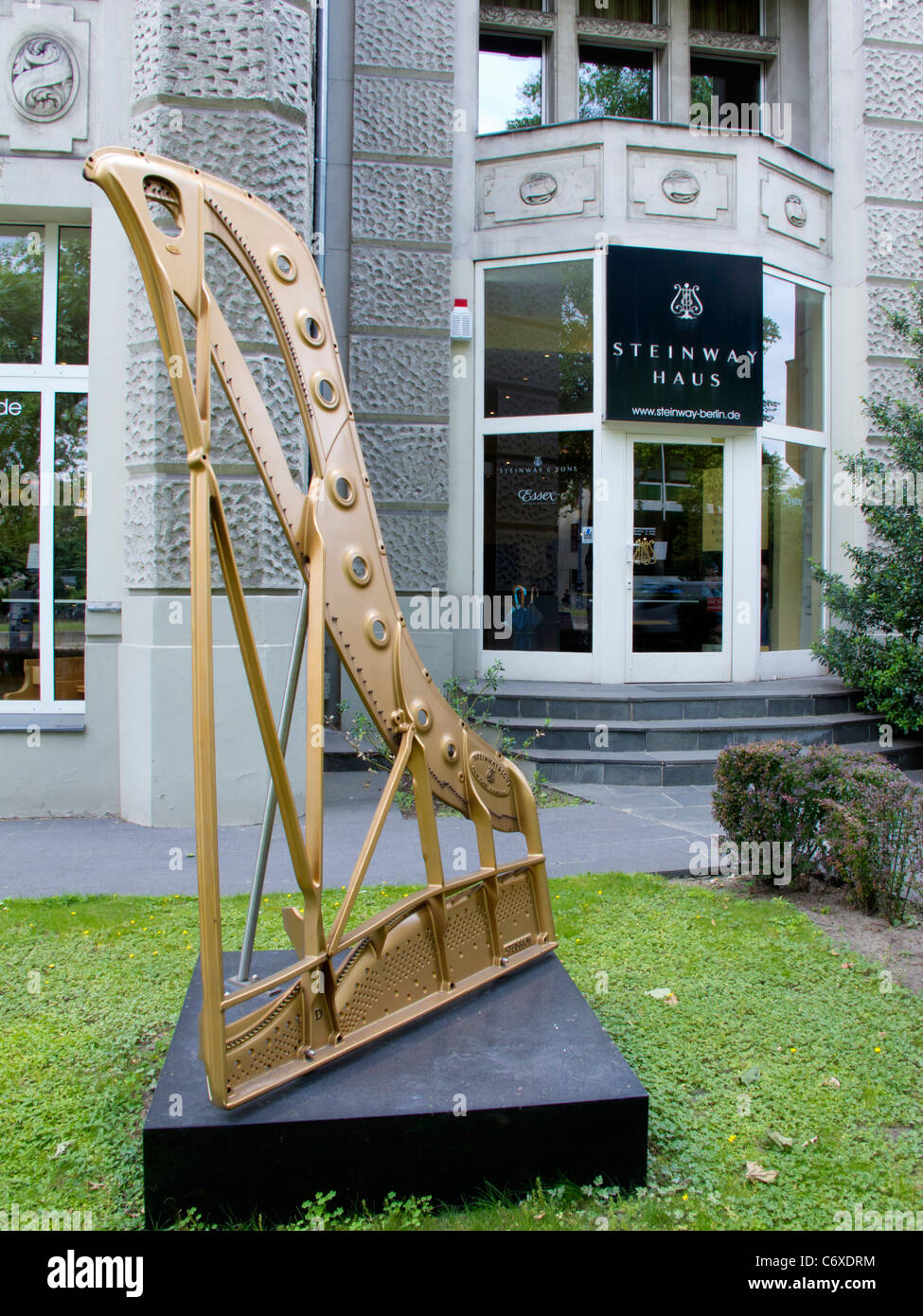Exterior of Steinway Haus piano shop in Berlin Germany - Stock Image