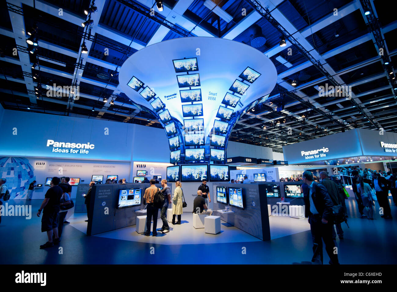 Panasonic stand at IFA consumer electronics trade fair in Berlin Germany 2011 - Stock Image