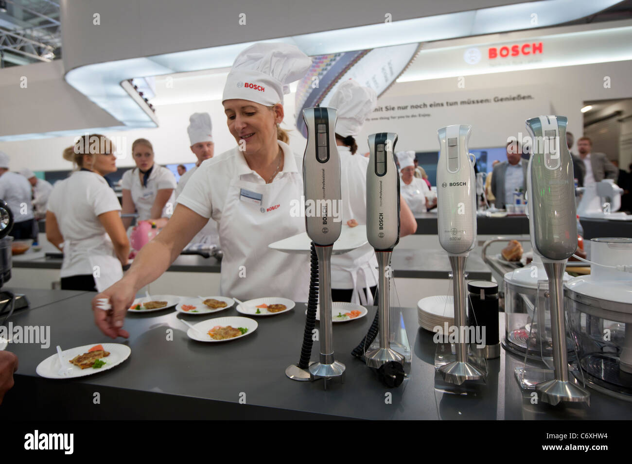 Bosch display stand at IFA consumer electronics trade fair in Berlin Germany 2011 - Stock Image