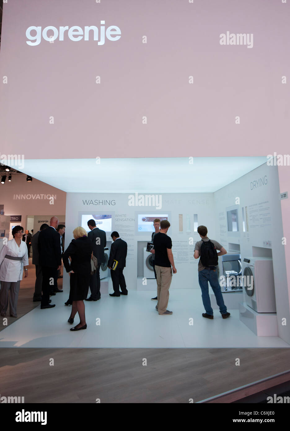 Gorenje consumer goods manufacturer stand at IFA consumer electronics trade fair in Berlin Germany 2011 - Stock Image