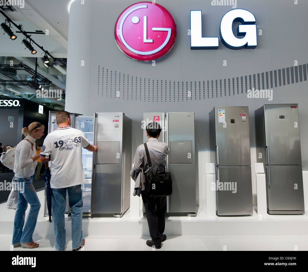 LG display at IFA consumer electronics trade fair in  Berlin Germany 2011 - Stock Image