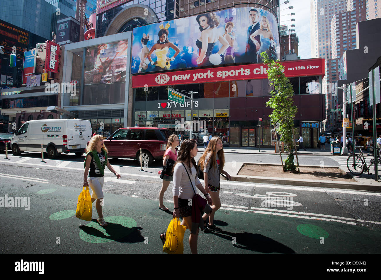 Advertising on billboards for the NBC television program, The Playboy Club - Stock Image