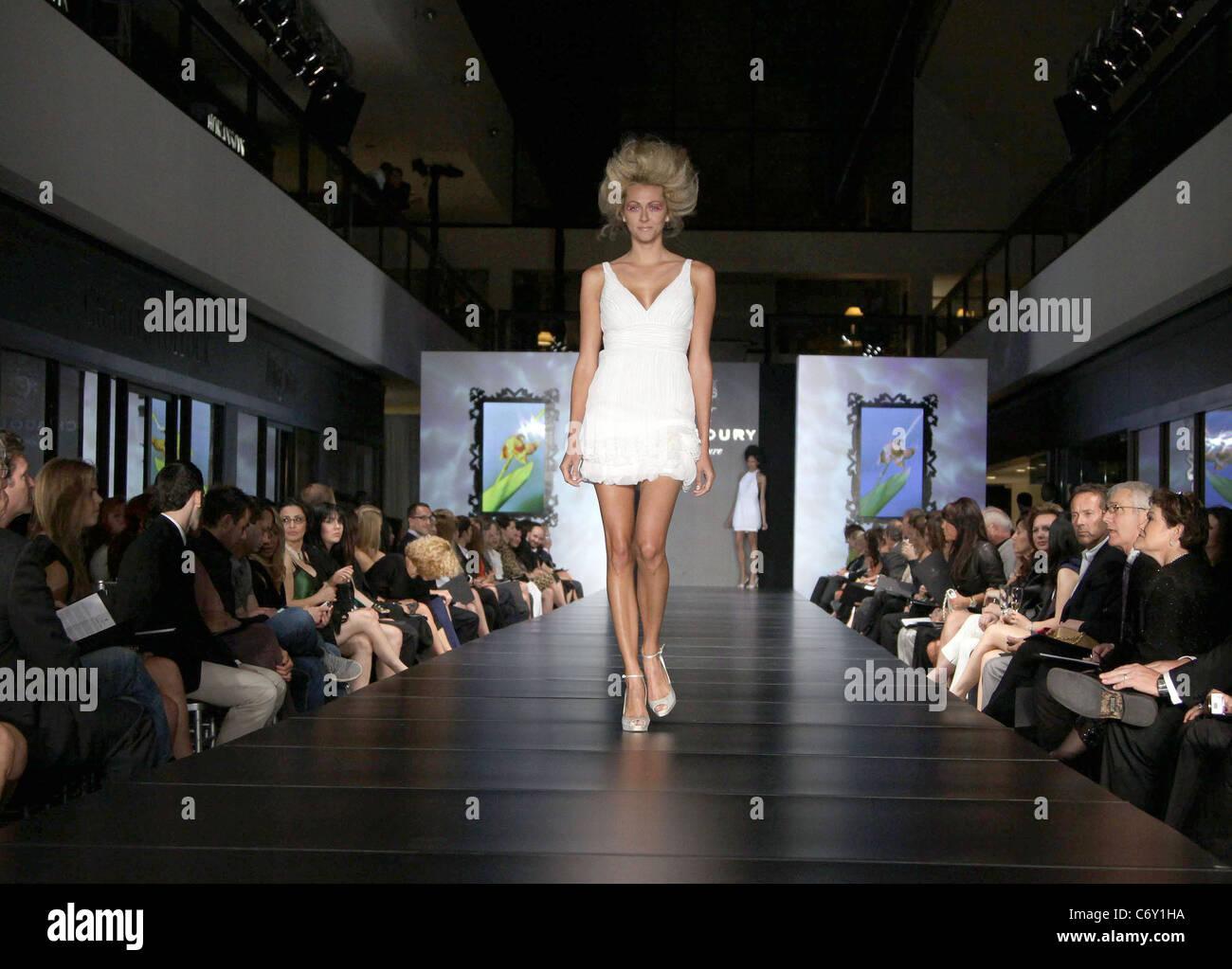 Model Fashion Designer Gilbert Chagoury Hosts His First Ever Runway Stock Photo Alamy