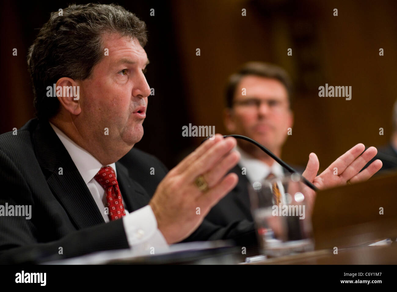 United States Postal Service Postmaster General Patrick Donahoe.  - Stock Image