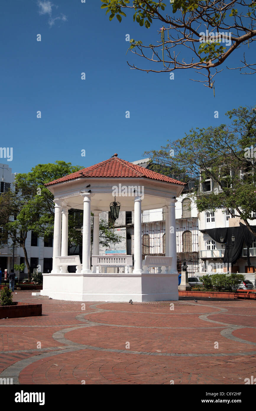 Plaza Catedral, Panama City, Casco Antiguo. - Stock Image