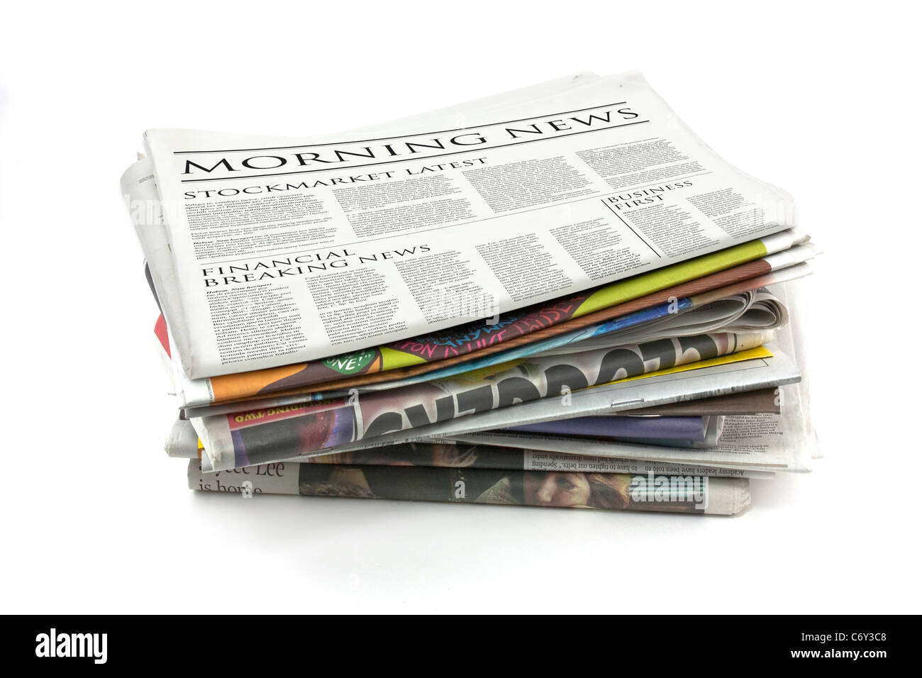 Generic design of a newspaper called morning news - Stock Image