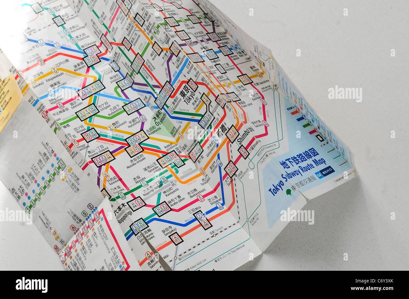 Aoyama Itchome On Subway Map.Tokyo Subway Map Stock Photos Tokyo Subway Map Stock Images Alamy