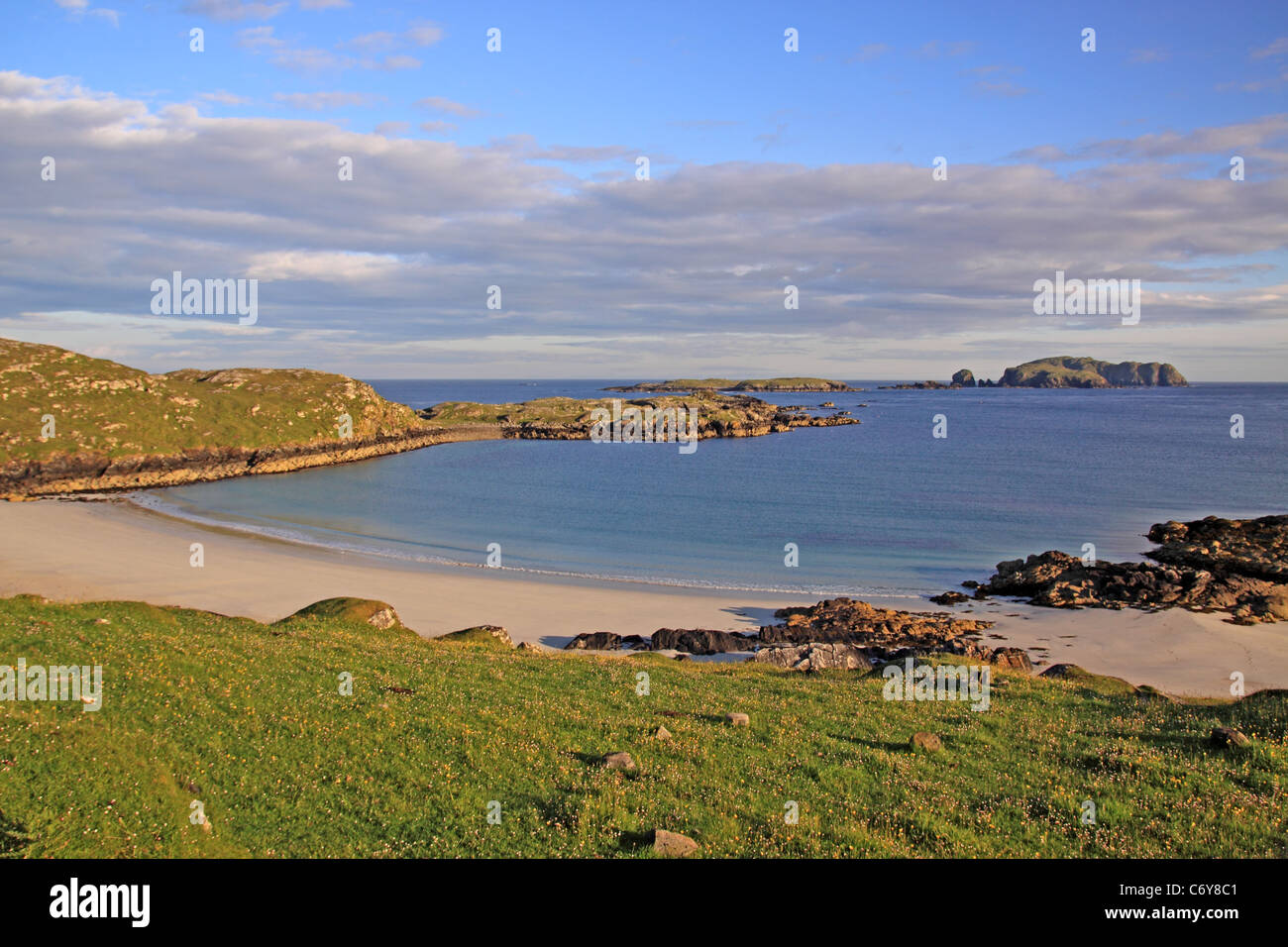 UK Scotland Outer Hebrides Isle of Lewis Bosta bay Isle of Bernery - Stock Image