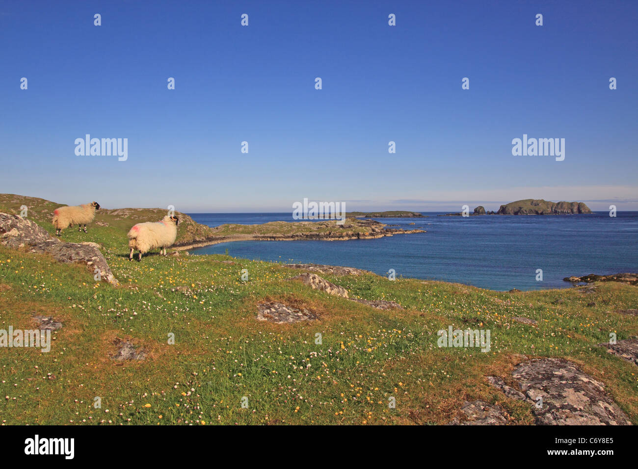 UK Scotland Outer Hebrides Isle of Lewis Bosta Isle of Bernery - Stock Image