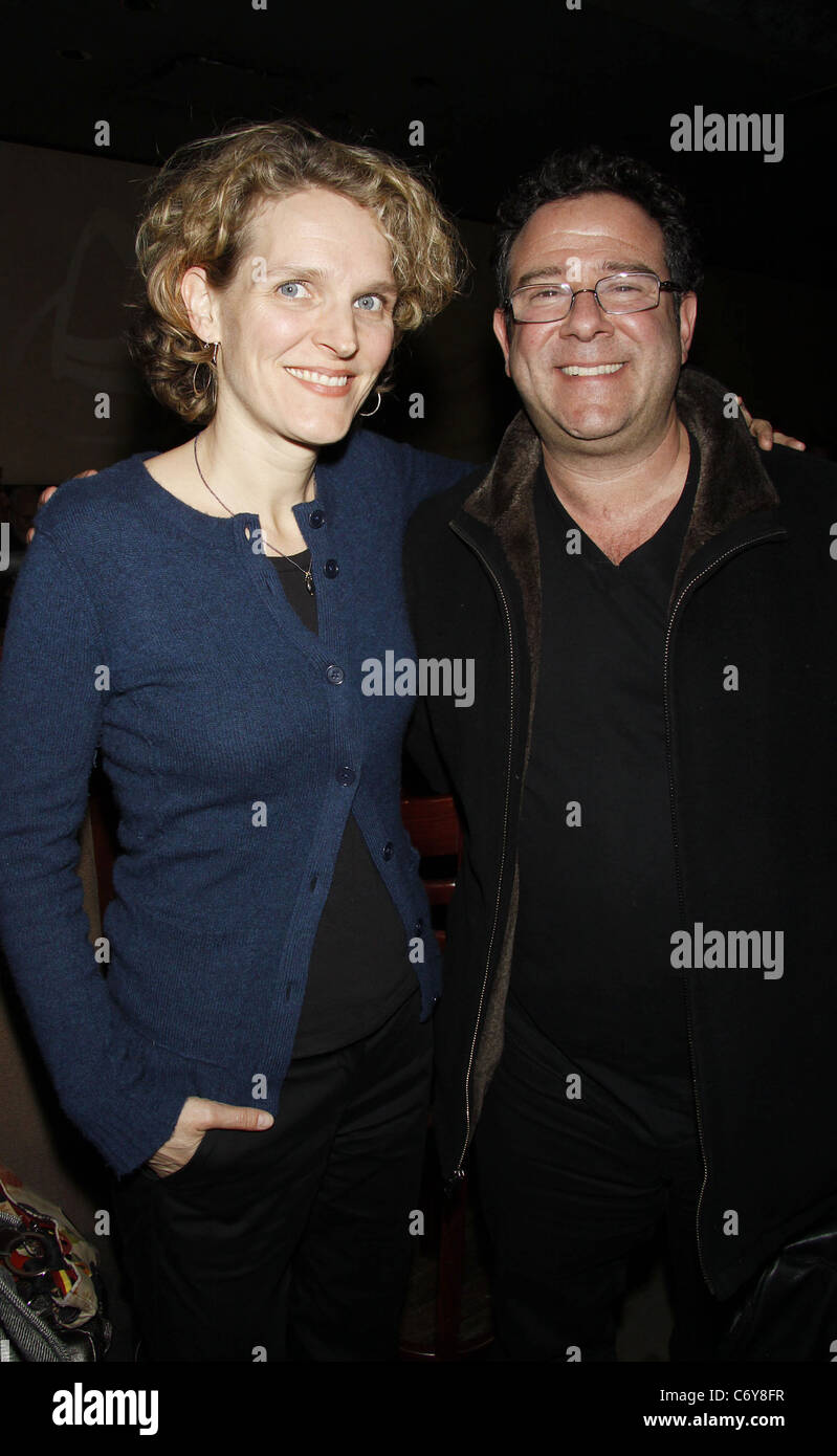 Melissa James Gibson and Michael Greif attending the opening night after party for 'A Cool Dip in the Barren - Stock Image